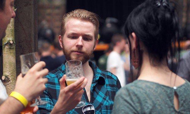 Punters enjoying Liverpool Craft Beer Expo