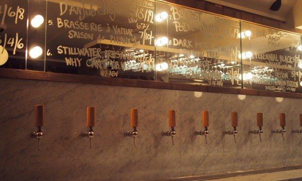 The keg taps at Tørst bar in Brookyln