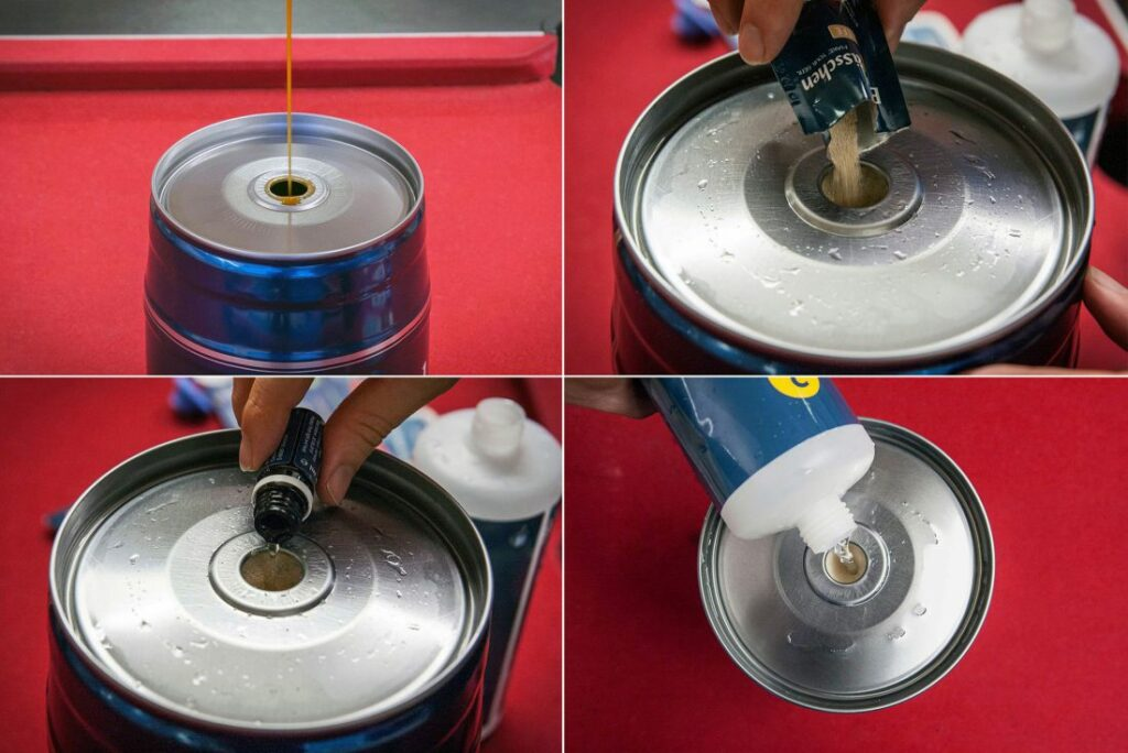 Pouring in Brewbarrel