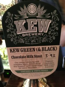 Kew Green & Black Beer