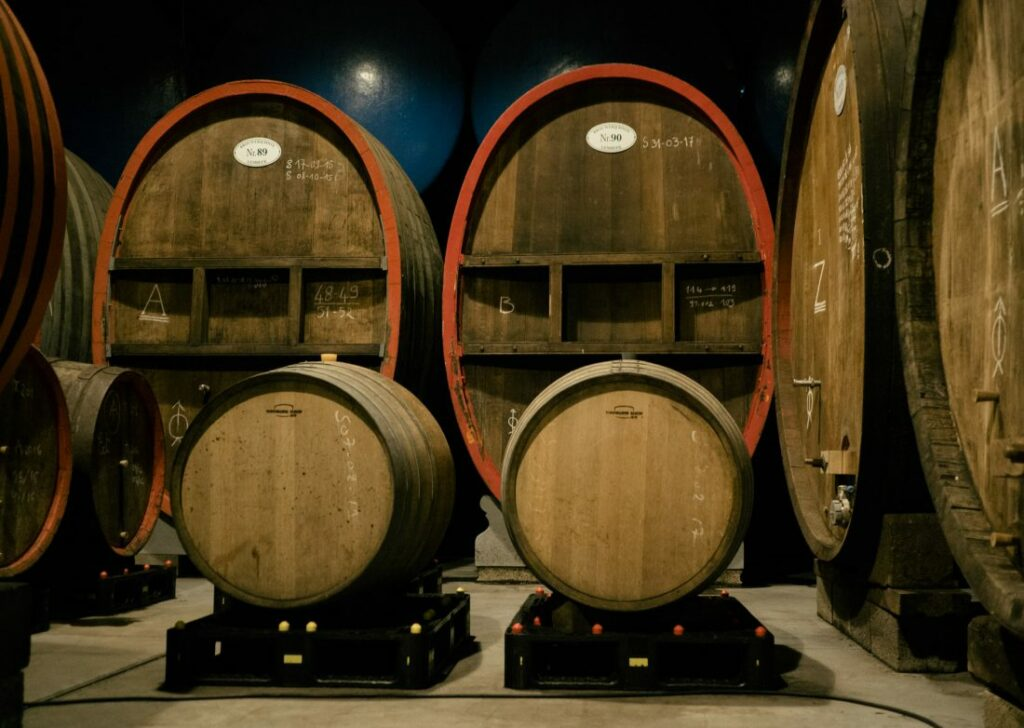 Barrels at Gueuze Boon