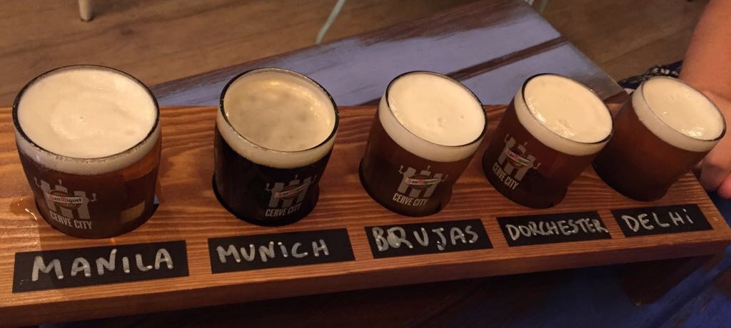 San Miguel Cerve City Beer Tasting at their Tap Station in Madrid