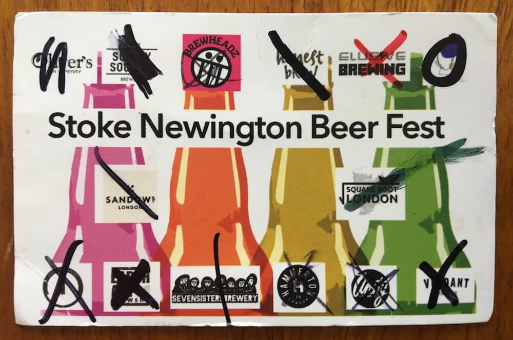 Stoke Newington Beer Festival 2018