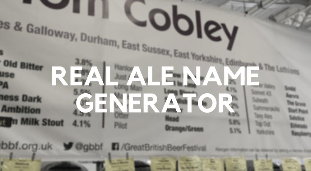 Real Ale Name Generator