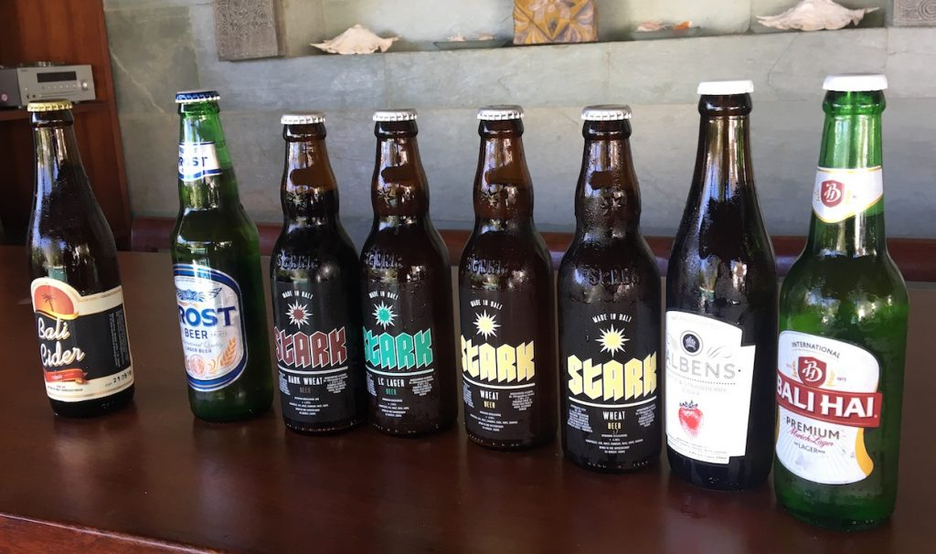 Craft Beers available in Bali