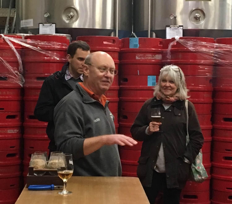 Beer sampling at Windsor & Eton