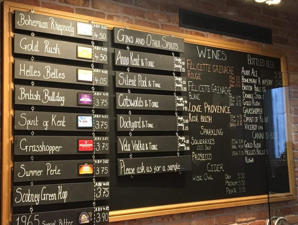 Westerham Brewery Taplist