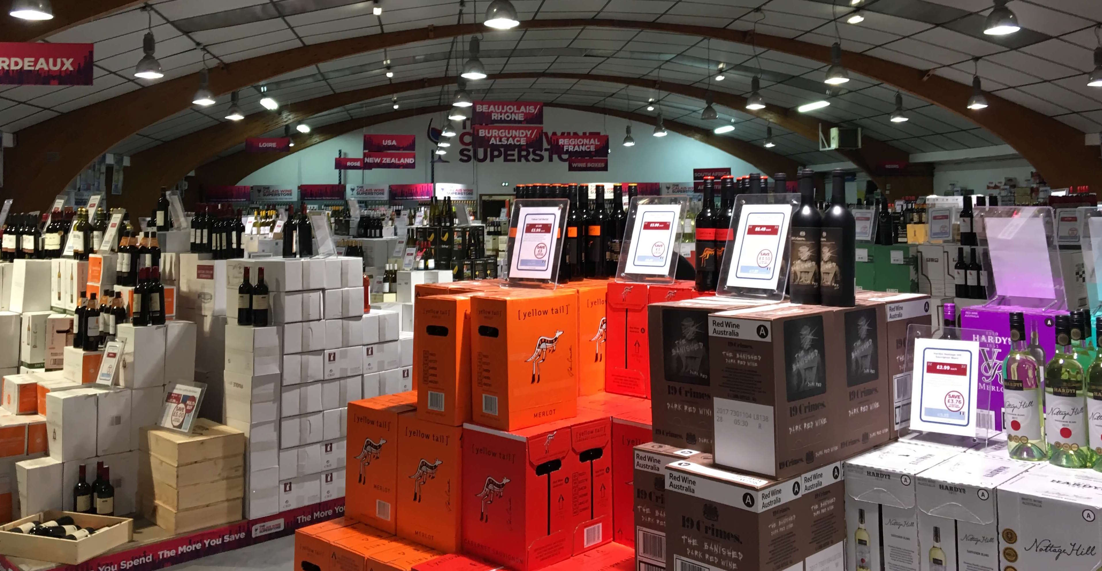 A Return to the Calais Wine Superstore