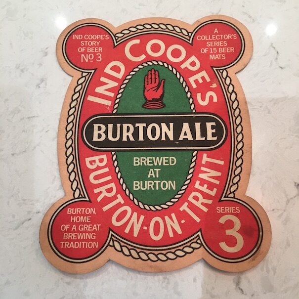 Buton Ale - Ind Coope Beermat