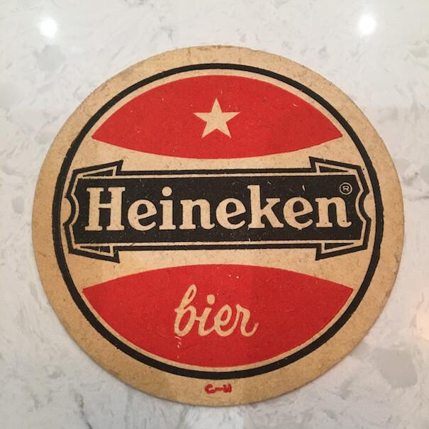 Heineken Beer Mat 80s