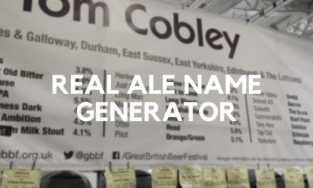 Real Ale Name Generator: Work Out Your Real Ale Name