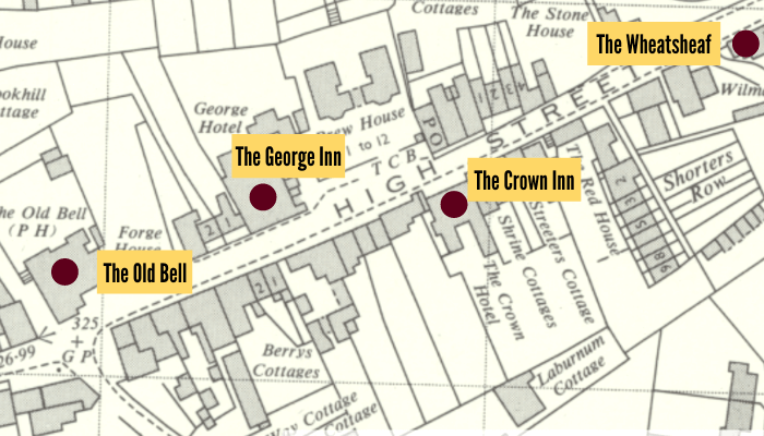 Old Oxted Pub Crawl Map
