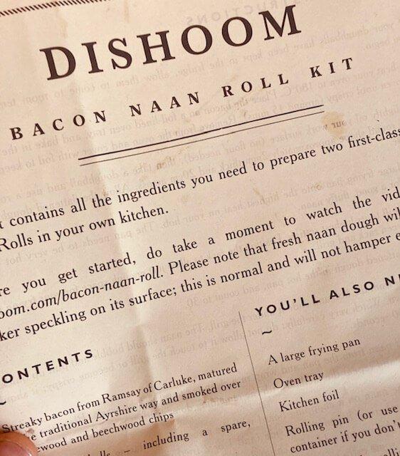 Bacon Naan Roll Recipe