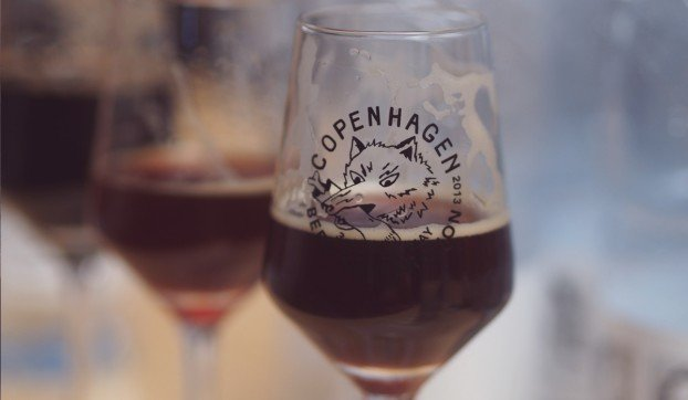 Imperial stout at the copenhagen beer festival