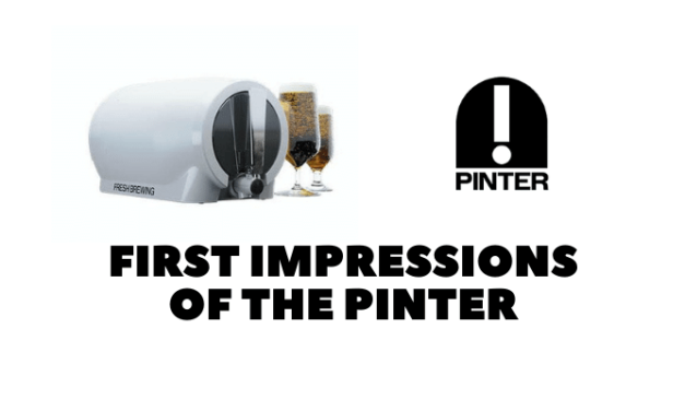Pinter: First Impressions of the Home Brew Kit Promising Fresh Beer