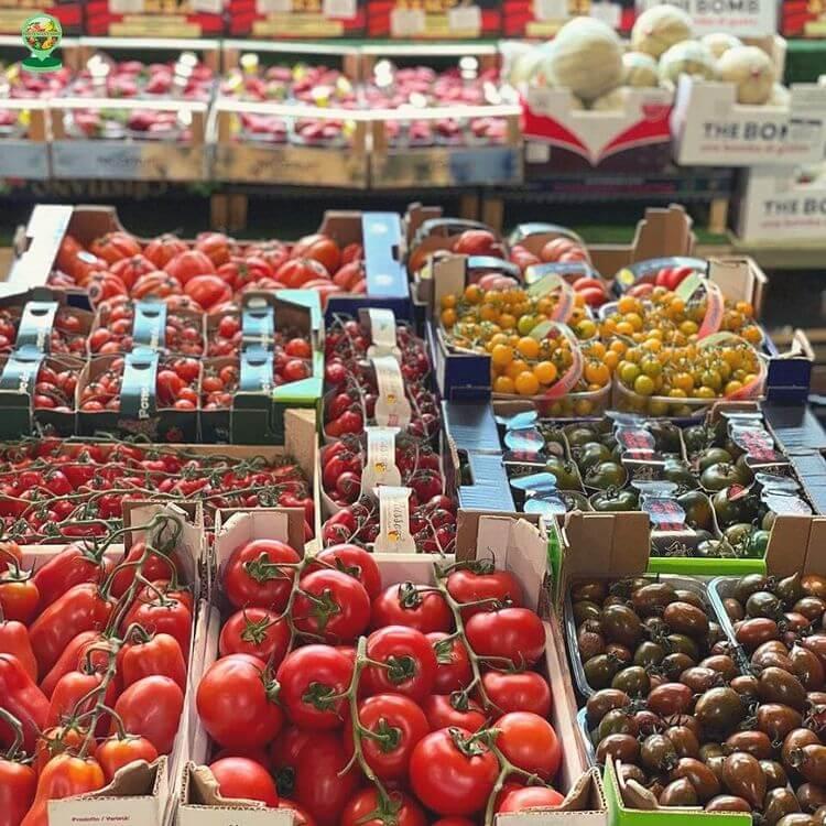 Italian Tomato Display at the Italian Shop