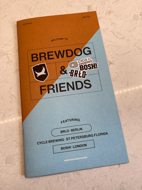 Booklet which came with Brewdog and Friends