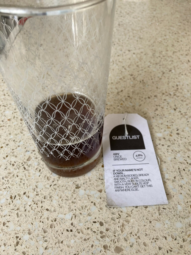 Dark Lager Homebrew with the Pinter